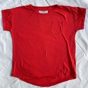 Mini Mioche x Heart Habit red pocket tee